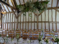Back to nature with romantic rustic charm in our Threshing Barn - the perfect venue for your  wedding party #southendbarns #weddings #foliage #weddingparty #sussex