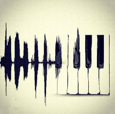This is such a simple, yet beautiful piano key art piece. It would be stunning hung in a small rimmed frame | via ESTADO D'ALMA on Tumblr #music #art