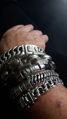 Possibly the most exquisitely designed hand crafted silver bracelets for mothers. Ankle Bracelets, Silver Bracelets, Bracelets For Men, Silver Jewelry, Stack Bracelets, Jewelry Rings, Bangles, Jewellery, Heart Wedding Rings