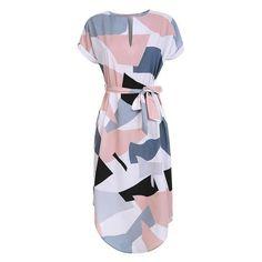 Sera - Geometric Pencil Dress
