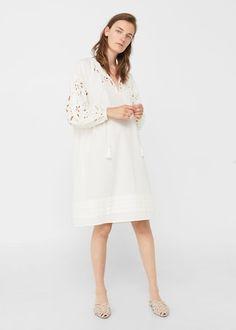 Sukienka ażurowe detale | MANGO