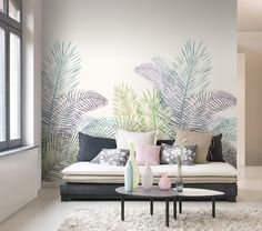 Jardin botanique Tapete: Jardin botanique TapetenAgentur The post Jardin botanique appeared first on Tapeten ideen. Wall Painting Frames, Room Wall Painting, Interior Walls, Interior Design, Diy Casa, Trendy Home, Diy Wall Decor, Home Decor Bedroom, Bedroom Apartment