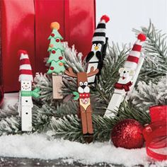 Fun craft project - Christmas clothespins