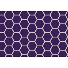 Sheetworld Honeycomb Mini Fitted Crib Sheet Color: Purple