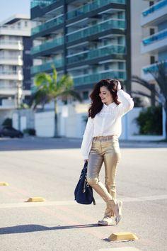 Blog da Lê-Moda e Estílo: Look - Dourado de dia