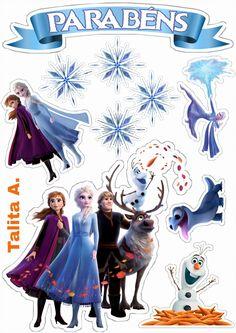 Bolo Frozen, Frozen Cupcakes, Frozen 2, Frozen Cake Topper, Fondant Cupcakes, Disney Frozen, Frozen Birthday Theme, Frozen Theme, Mickey Mouse Birthday