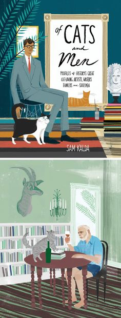 'Of Cats and Men' illustrated book by Sam Kalda | cats | cat illustrations | book illustration