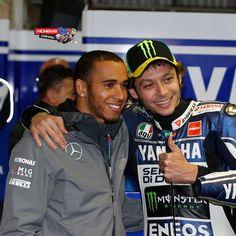 @valeyellow46 hanging with @Lewis Chaplin Hamilton at #LeMans #MotoGP
