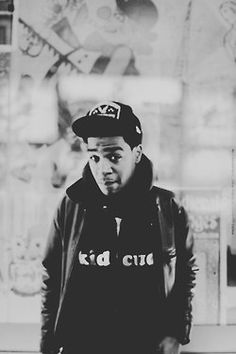 Black and White Kid Cudi the man on the moon scott mescudi cudder indicud