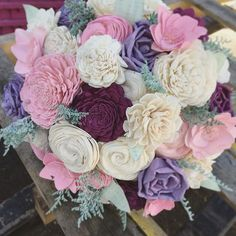 This has got to be one of my new favorite color schemes! Lilac, blush, and plum…