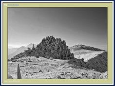 Castell-y-Gwynt rock formation on the Glyderau summits