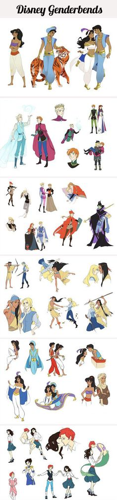 Disney Genderbent Disney Fun, Disney Magic, Disney Stuff, Disney Fan Art, Disney Dream, Disney And Dreamworks, Disney Pixar, Disney Films, Disney Marvel