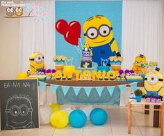 Minion Themed Birthday Party {Planning, Ideas, Decor, Cake, Idea}