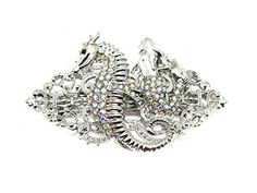 Faship Mermaid Seahorse Barrette AB Rhinestone Crystal * For more information, visit image link.(This is an Amazon affiliate link and I receive a commission for the sales)