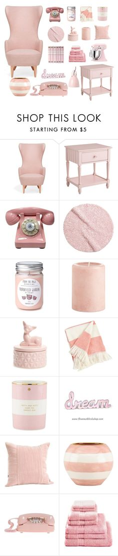 """""""Pastel Pink"""" by dollz-n-donz ❤ liked on Polyvore featuring interior, interiors, interior design, home, home decor, interior decorating, Tom Dixon, Pier 1 Imports, H&M and DCI"""