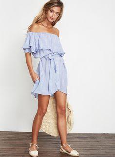 CASCAIS STRIPE PRINT - BLUE - AMALFI DRESS