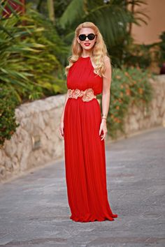 Long maxi #red prom #dress. #women fashion outfit clothing style apparel @roressclothes closet ideas