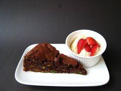 pistachio and chocolate (gluten-free) cake