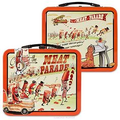 Buy Accoutrements Meat Parade Metal Lunch Box - Topvintagestyle.com ✓ FREE DELIVERY possible on eligible purchases