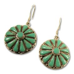 Nepal   Earrings with Asian Turquoise