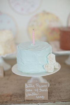 1st birthday girl ideas cake | Shabby Chic First Birthday Party - The Sweetest Occasion | The ...