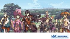 log horizon adventurers Log Horizon, Adventure, Anime, Art, Art Background, Kunst, Cartoon Movies, Adventure Movies, Anime Music