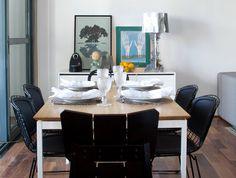 Pra acompanhar o jantar dos fins de semana, mix de cadeiras e buffet Lumini pra guardar as coisas e decorar! www.oppa.com/Lumini | Flickr - Photo Sharing!
