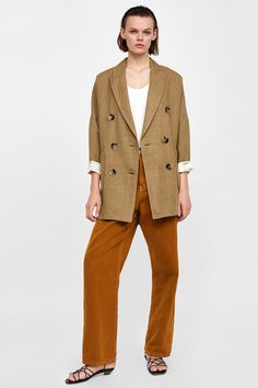 a51e0d20dff9 Image 1 of STRUCTURED LONG JACKET from Zara Zara