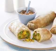 Spiced pea & potato rolls - this could really easily be adapted with other things - I'm thinking potato sun dried tomatoes and feta - or pesto. Oooooo the possibilities :)