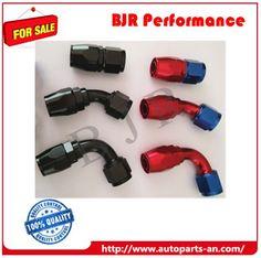 AN Fittings - Str, 45°,90°,180° Red-blue color, black color AN4, AN6,AN8,AN10,AN12,AN16 Racing Auto Parts