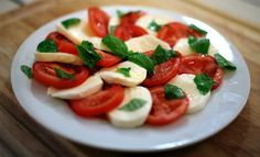 """Caprese Salad! 4.55 stars, 11 reviews. """"Perfect summer dish!"""" @allthecooks #recipe #cold #easy #healthy #salad #vegetarian"""