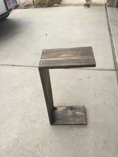 Couch slide under side table