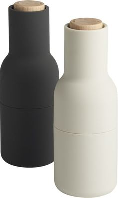 2-piece neutral salt and pepper grinder set  | CB2