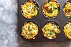 Need a breakfast meal prep idea? Why not try this delicious and fun breakfast wonton egg cups? An easy way to have breakfast ready for the week!