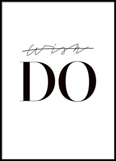 DO, poster in the group Posters & Prints / Black & white at Desenio AB (8349)
