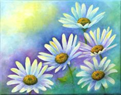 How to Paint Daisies, art  by Carol May