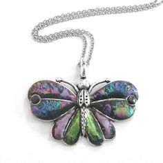 Butterfly Necklace Artistic Customizable Nature by LoralynDesigns