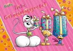 Ganz liebe Geburtstagsgrüße!   Diddl   Echte Postkarten online versenden   Diddl