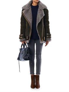 Acne-Velocite oversized shearling jacket
