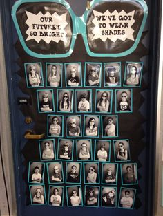 """Open House door J says: I find this really endearing and fun. I wonder if parents could write compliments on paper glasses to leave for their children after back to school night - """"My Vision for You is . . ."""""""