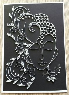 Buddha frame made in Quilling Quilling Letters, Paper Quilling Flowers, Paper Quilling Patterns, Quilled Paper Art, Quilling Paper Craft, Paper Crafts Origami, Quilling Craft, Paper Quilling For Beginners, Quilling Techniques