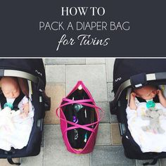 Our chic and innovative handbag insert provides much-needed organization to your handbag or diaper bag. Using ToteSavvy, learn how we pack a diaper bag for twins! Twin Mom, Twin Girls, Twin Babies, Baby Twins, Newborn Twins, Baby Boy, Triplets, Newborns, Baby Girls