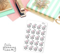 Grocery Shopping Cart Life Planner Stickers 20 by itsplanningtime