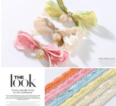 Lace hair clip #ribbons#Lace #hair clip