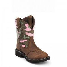 Justin Gypsy Ladies Boot - Camo Aged Bark - WESTERN BOOTS - BOOTS @justinboots #boots @Baskins Western