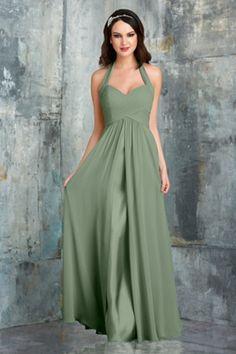 Bari Jay 553 Bridesmaid Dress in Sage Green in Chiffon