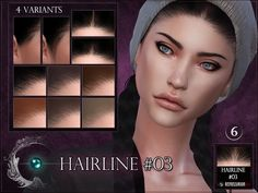 Another hairline for the sims 4 found in tsr category 'sims 4 female skin details' The Sims 4 Skin, The Sims 4 Pc, Sims Four, Sims 4 Cc Eyes, Sims Cc, Sims 4 Tsr, Sims 4 Game Mods, Sims 4 Mods, Maxis
