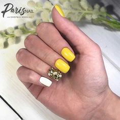 ❤Ноготок❤ Маникюр, Ногти, Дизайны, МК Casual Nails, Yellow Nail Art, Make Up, Beauty, Yellow Nails, Makeup, Beauty Makeup, Beauty Illustration, Bronzer Makeup