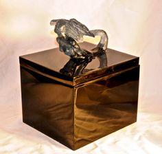 Cast Glass Mermaid Box by BeachwalkerBoxes on Etsy
