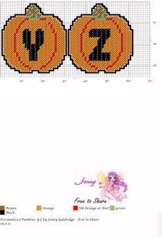 Personalized Pumpkins Y-Z